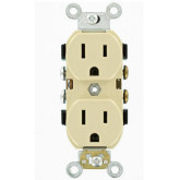 Receptacle Duplex CO/AL Ivory Copper Aluminum