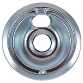 "Drip Pan 6"" Chrome 6/PK"